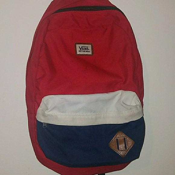 VANS Red White and Blue backpack. M 5b17294c819e9021533d7215